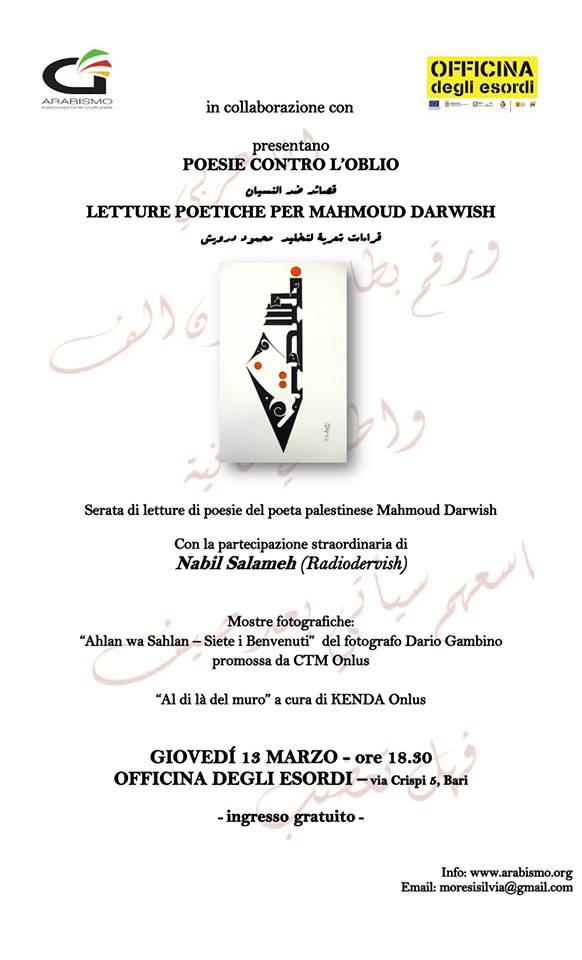 evento Darwish Bari