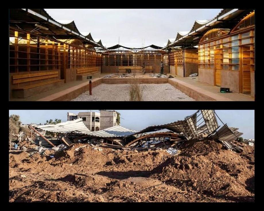 Distruzione scuola confronto