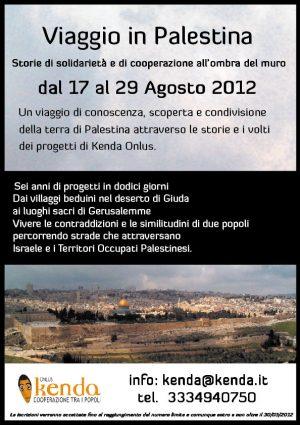 Locandina Viaggio solidale Palestina 2012-01
